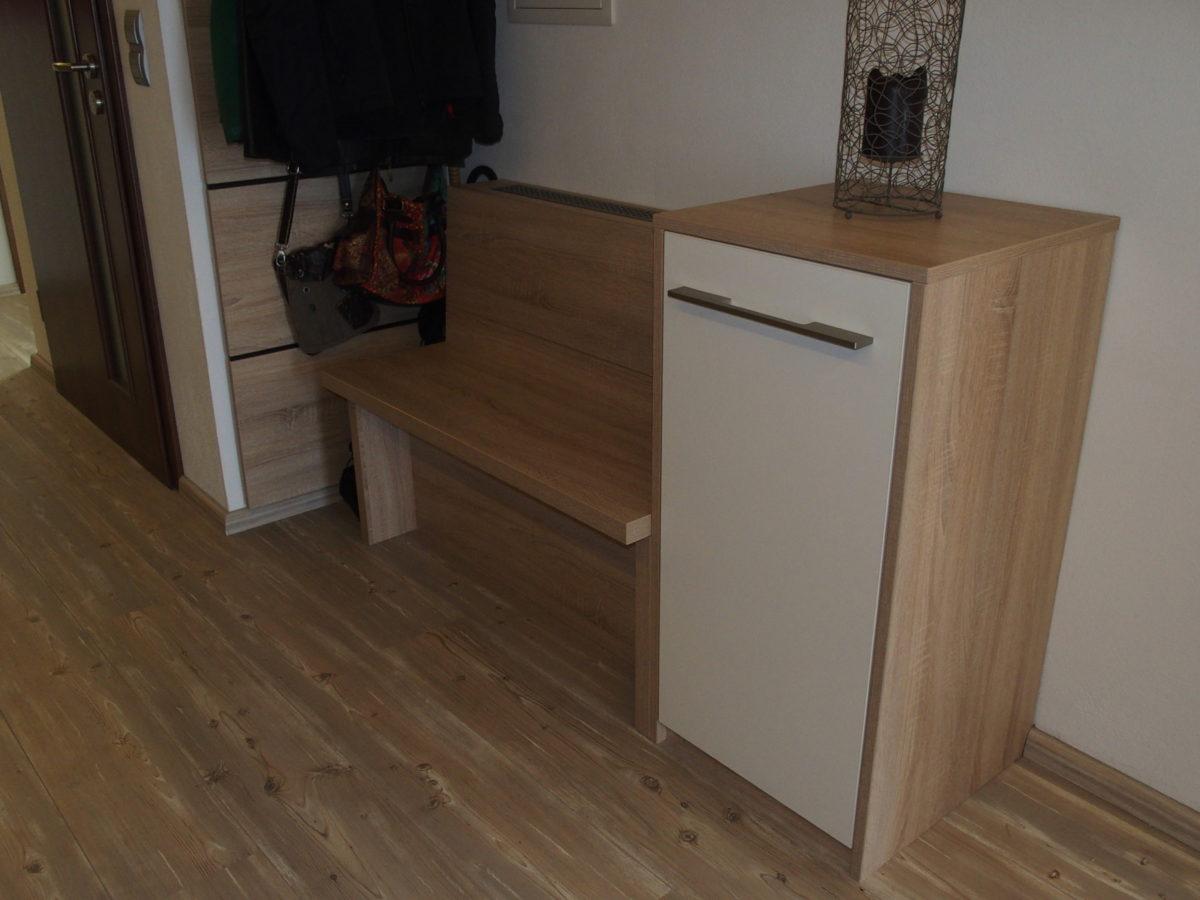sitzbank mit schuhschrank die schreinerwerkstatt. Black Bedroom Furniture Sets. Home Design Ideas